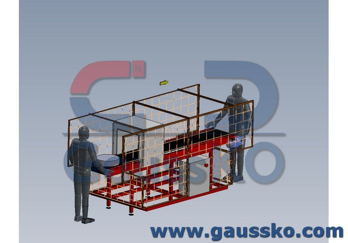 Esempio layout smagnetizzatore tunnel nastro trasportatore